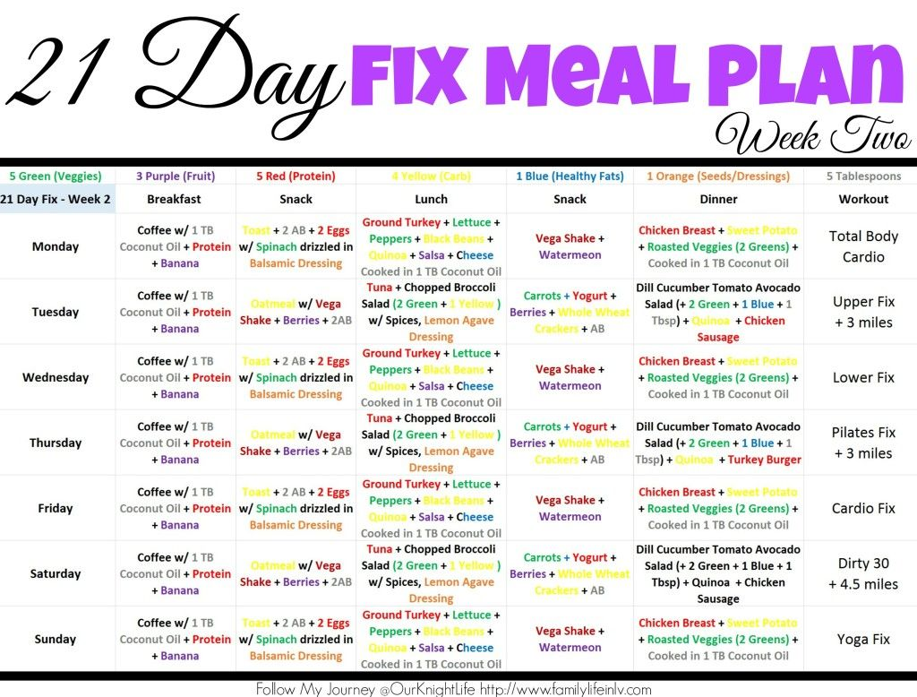 21 Day Fixt 21 Day Fix Meal Plan 21 Day Fix Meal