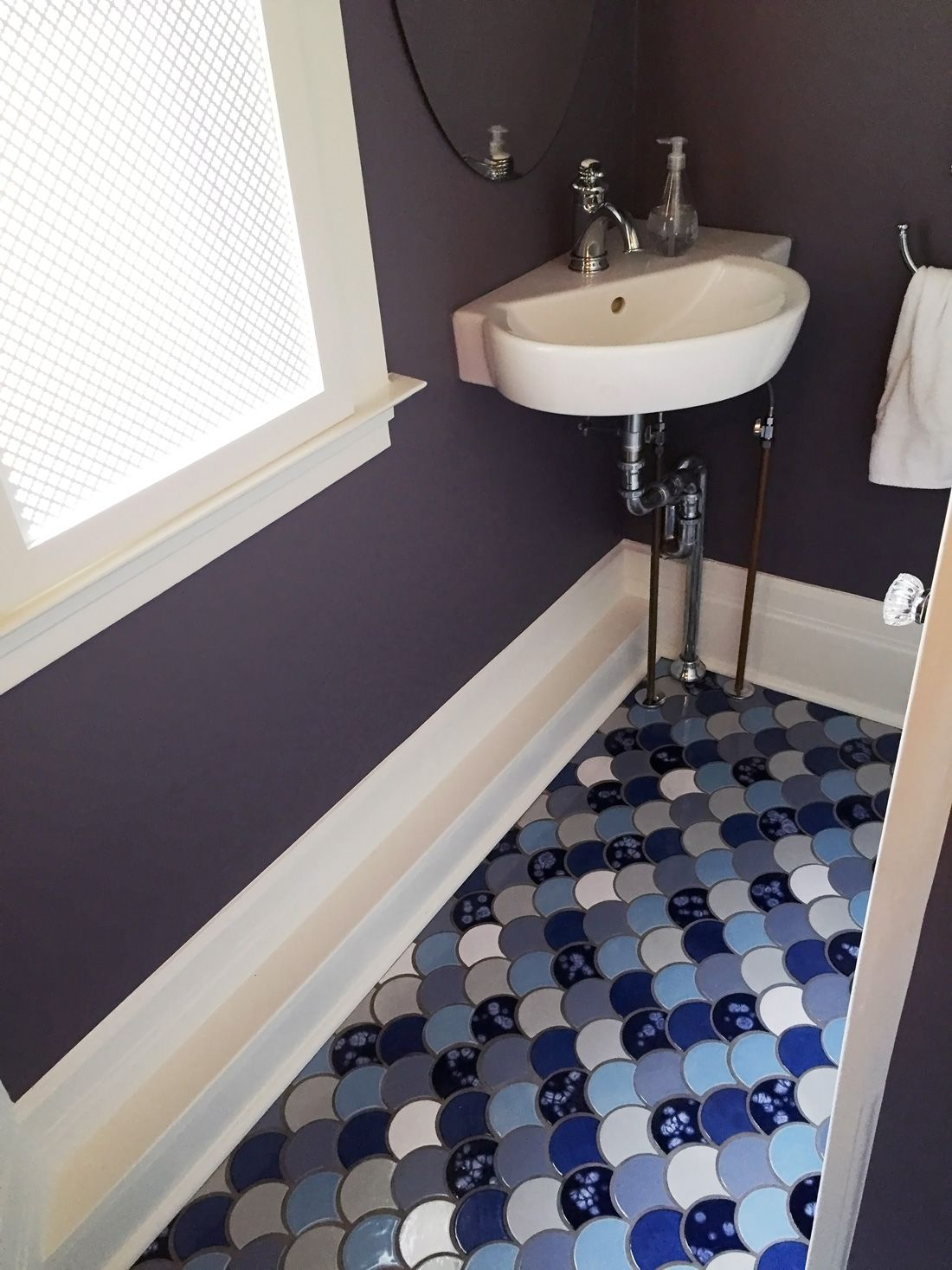 Fish tiles bathroom - How To Tile A Small Space View Our Blog To See Other Ideas For How