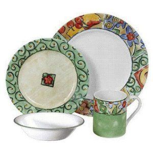 Amazon.com: Impressions 16-Piece Dinnerware Set, Watercolors - Corelle: Kitchen & Dining