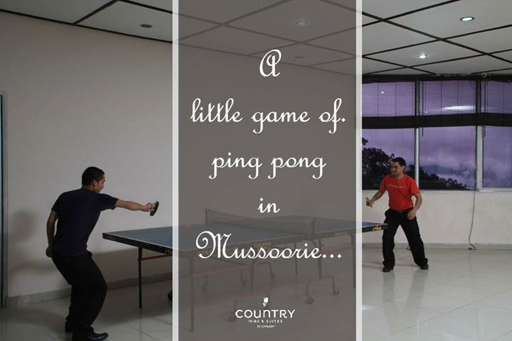 How 'bout a game of #PingPong at Country Inn & Suites By Carlson, Mussoorie? #Mussoorie