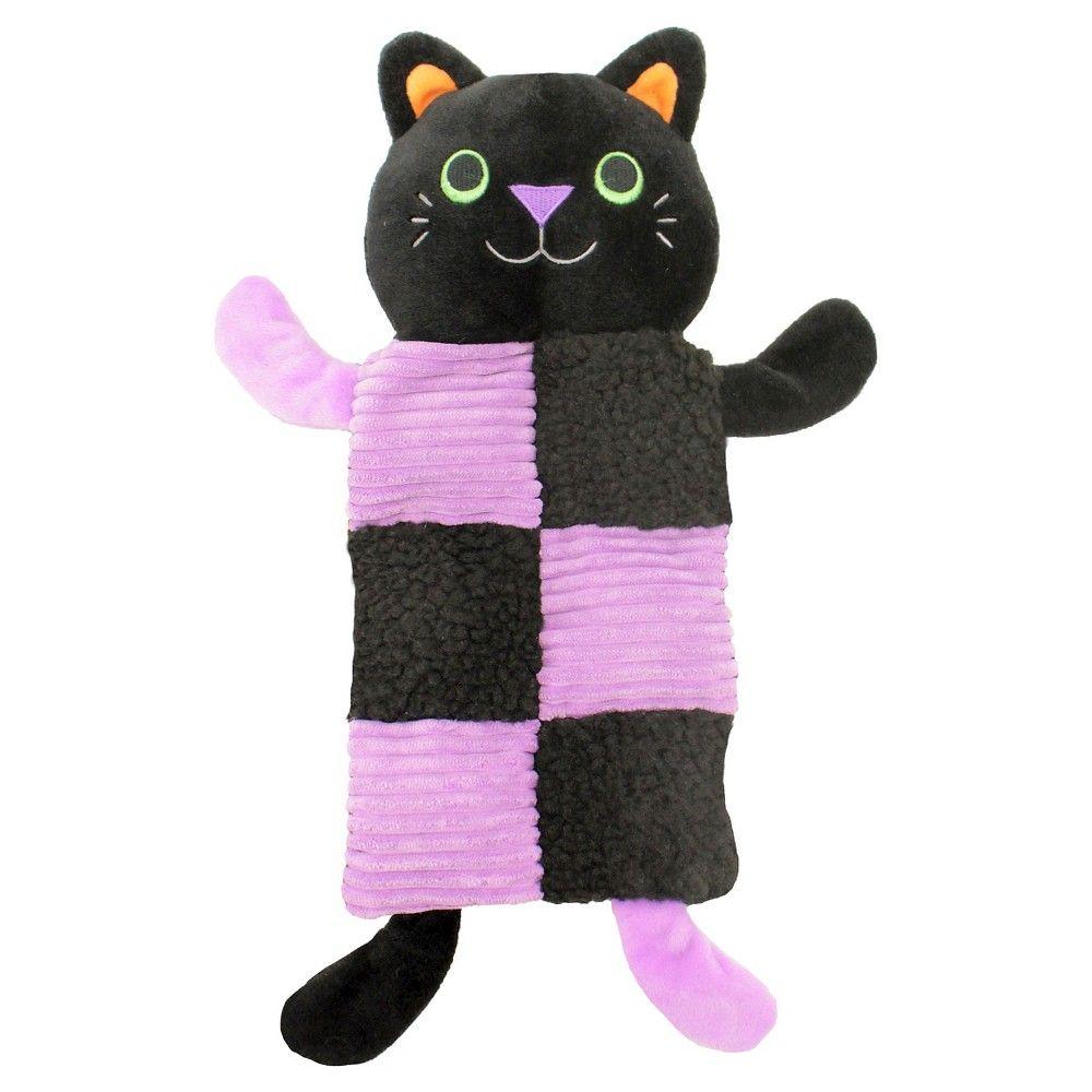 Multi Squeaker Dog toy - Black/Purple (Medium) (6 Squeakers), Orange