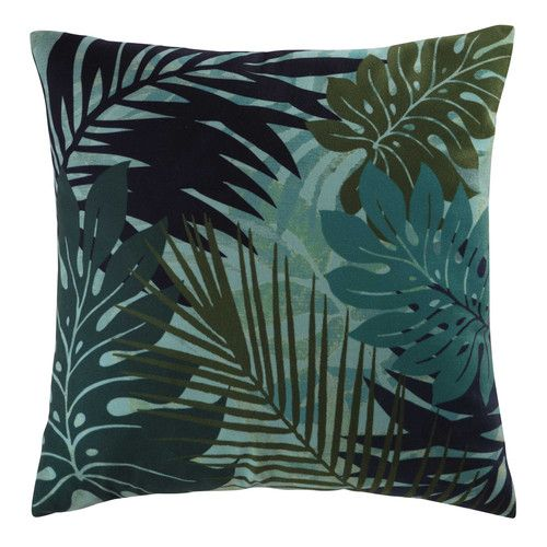 An Exotic Touch To The Bedroom: Cushion Plant Print 45 X 45cm