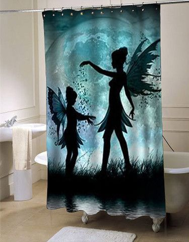 Moon Fairies Shower Curtain Customized Design For Home Decor Shower Curtain Decor Personalized Shower Curtain