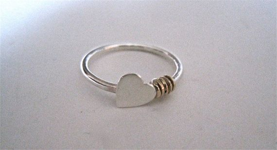 Heart Ring Simple Heart Ring Sideways Heart Ring Valentine s