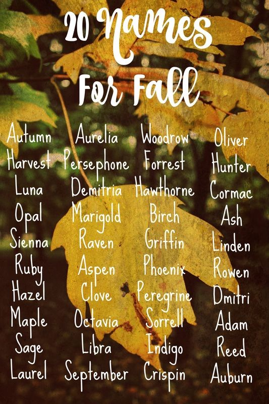 103 Stunning And Riveting Autumn Baby Names To Fall For