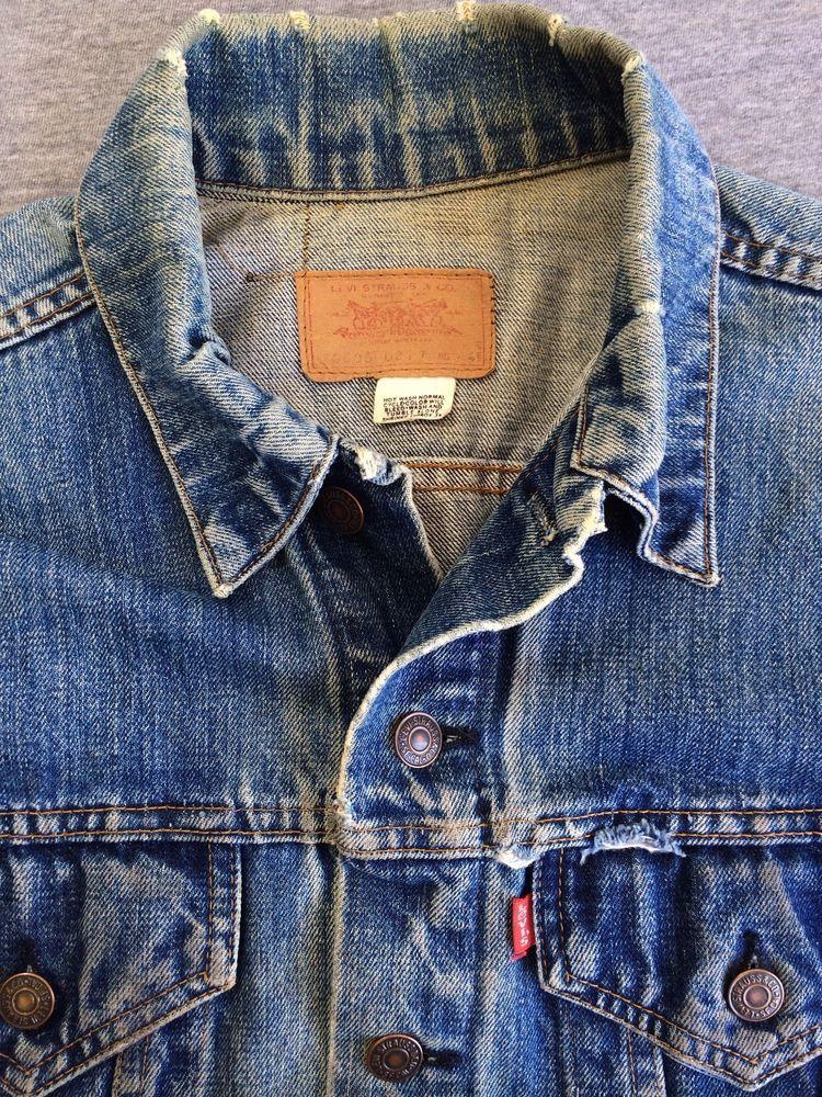 Levi S Denim Jean Jacket 60 S Rare Jean 529 Distress Vintage Type 3 Trucker Men S 44 Levistrausseco Men S Denim Style Vintage Denim Jacket Denim Jacket Men