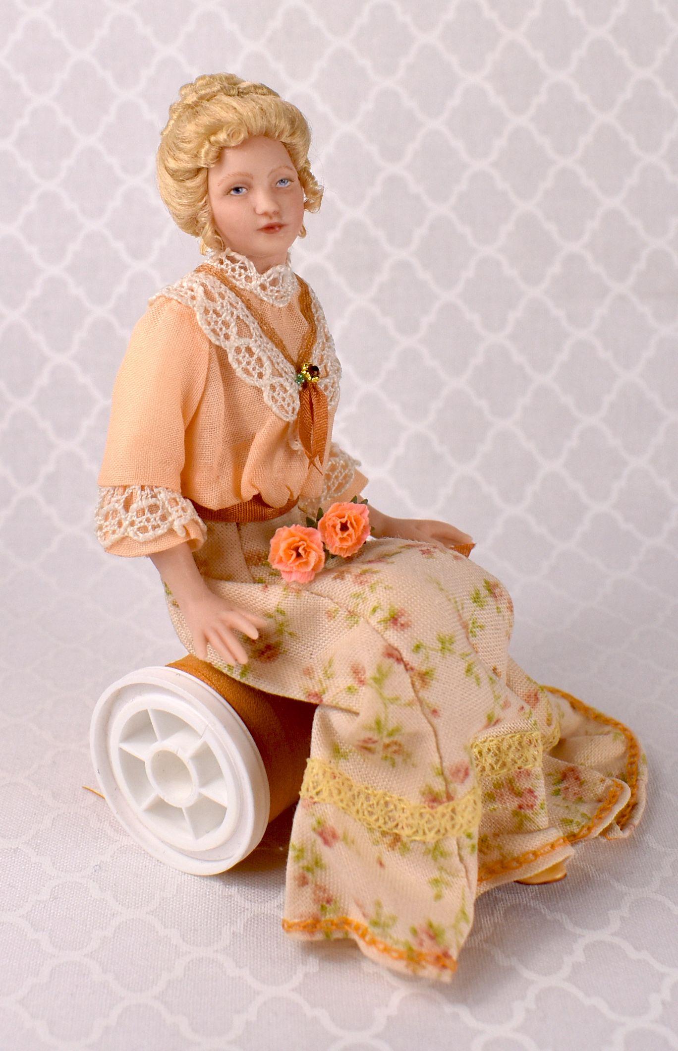 A Lovely Edwardian Lady In 1 12 Scale Dollhouse Dolls Barbie Miniatures Miniature Dolls