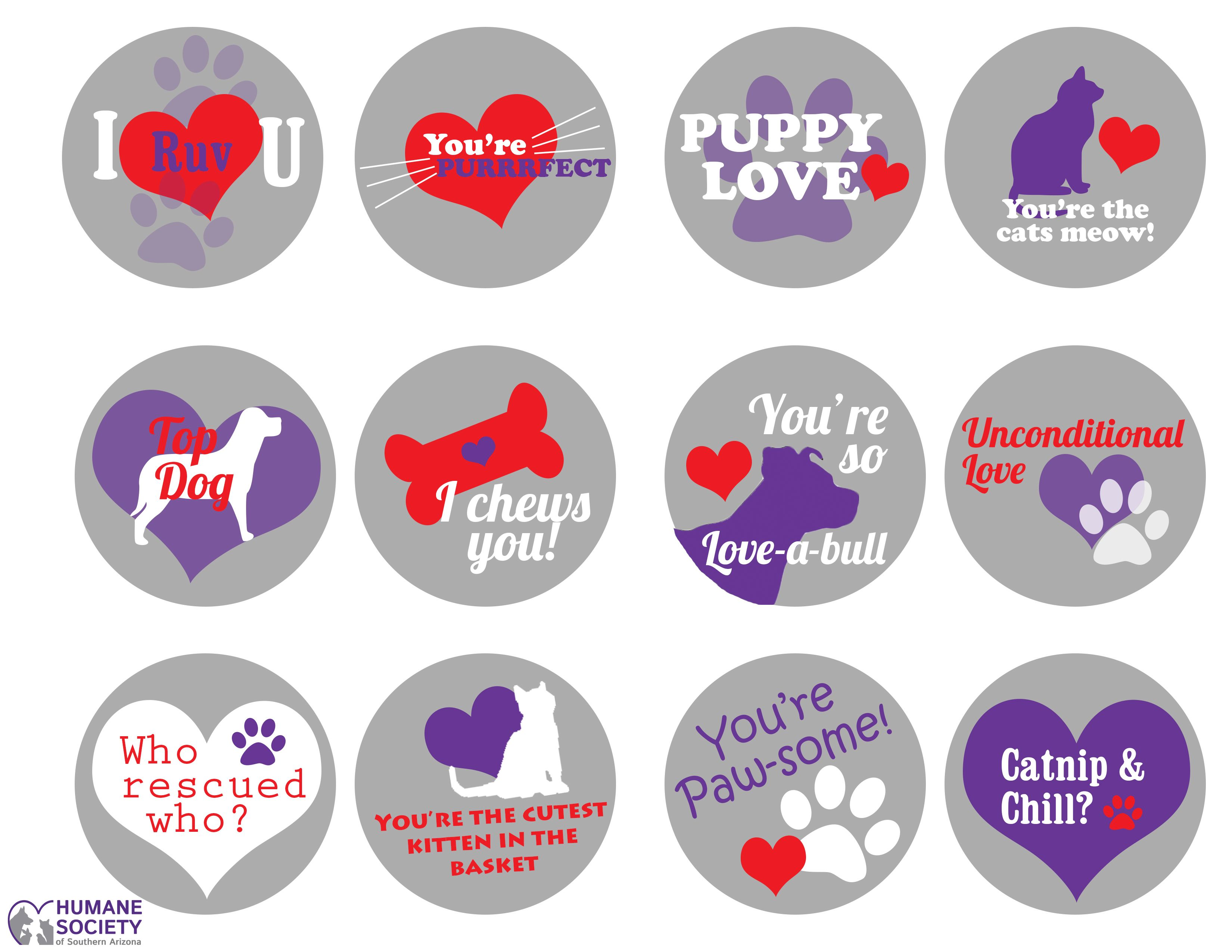 Pet Friendly Printable Valentines - Letters From The Kennel