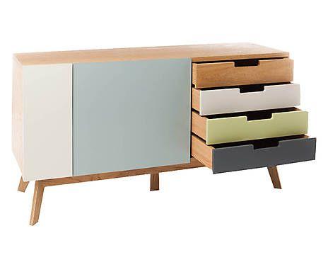 Ikea Credenza Rovere : Mobile madia in rovere con cassetti kyra multicolor