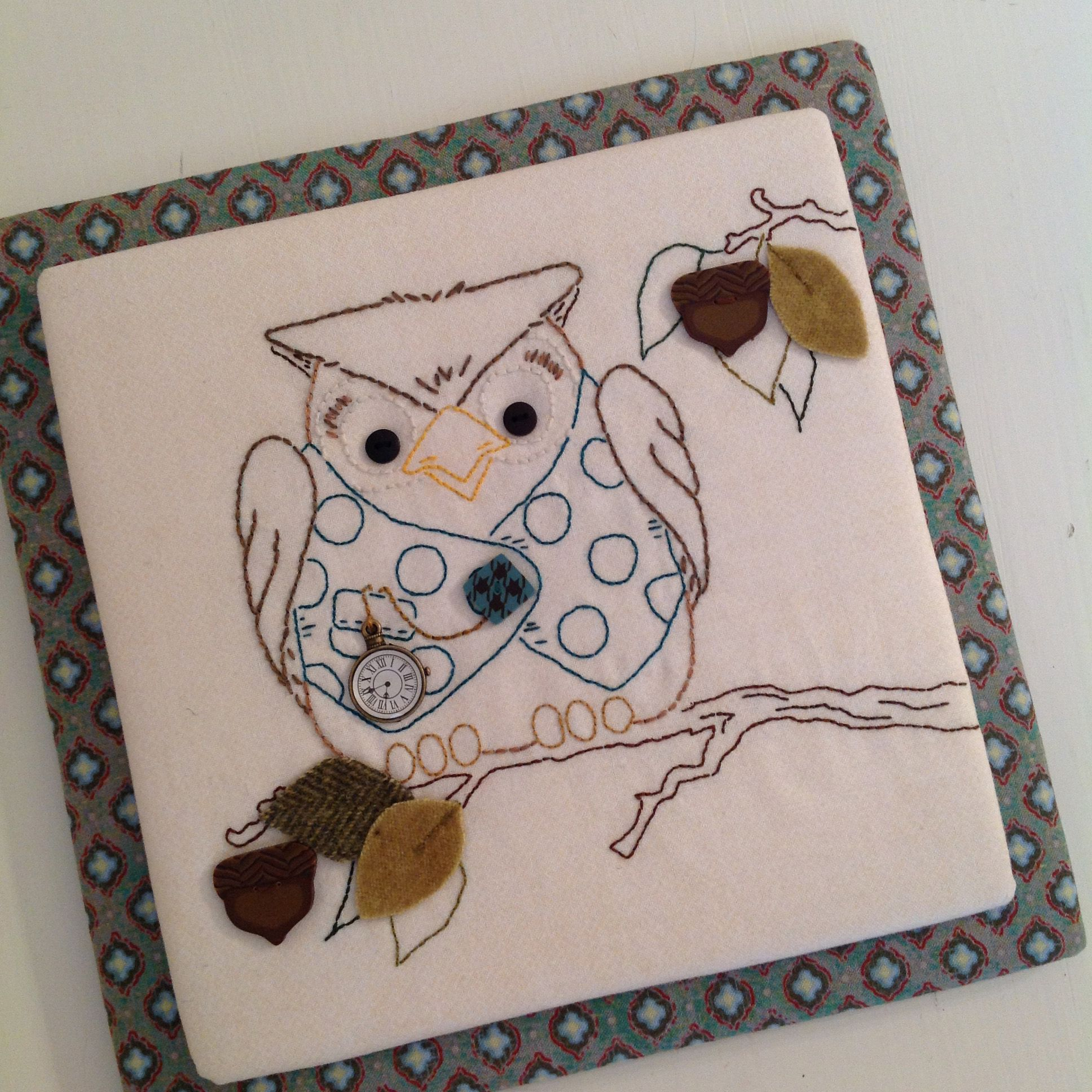 Owl embroidery pattern adorable woodland stitchery piece from owl embroidery pattern adorable woodland stitchery piece from woodland whimsy stitchery book http bankloansurffo Image collections