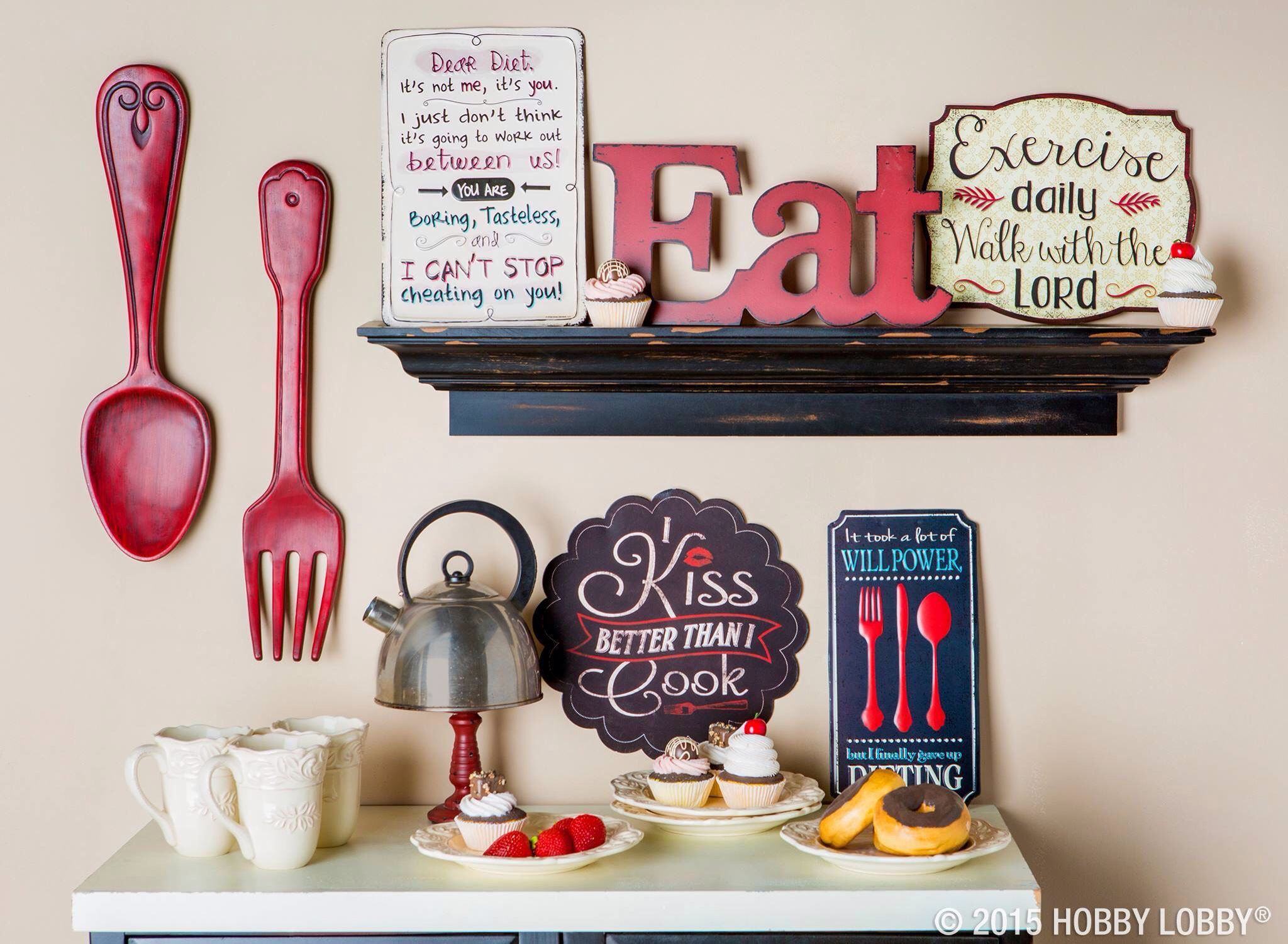 Fork And Spoon In 2019 Kitchen Decor Themes Red