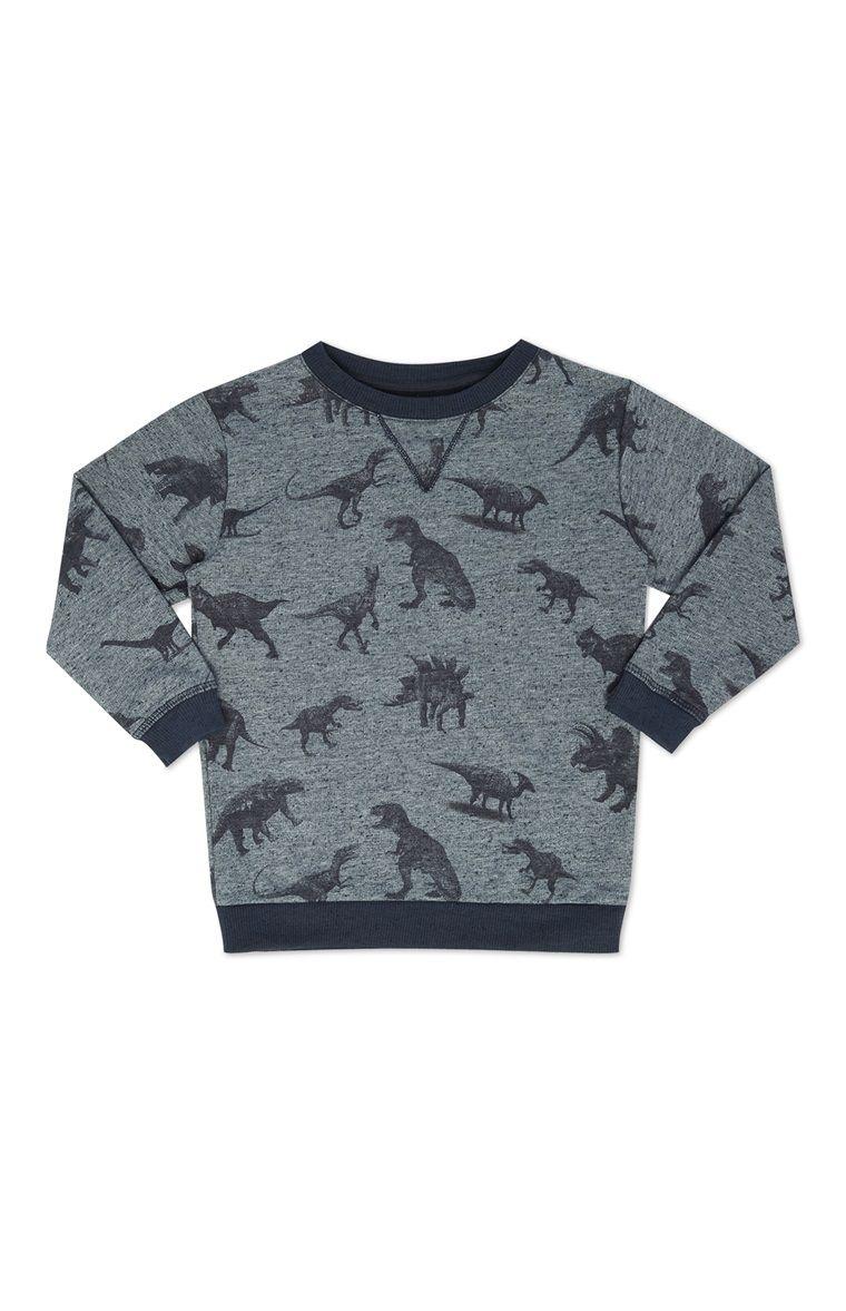 12eb1078a7 Primark - Suéter dinosaurio gris y cuello redondo