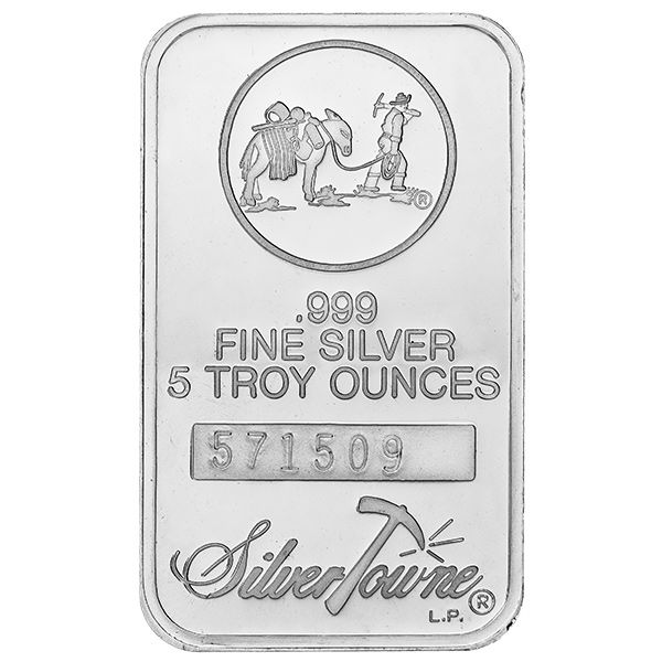 Silver Bullion - 1oz, 10oz, 100oz