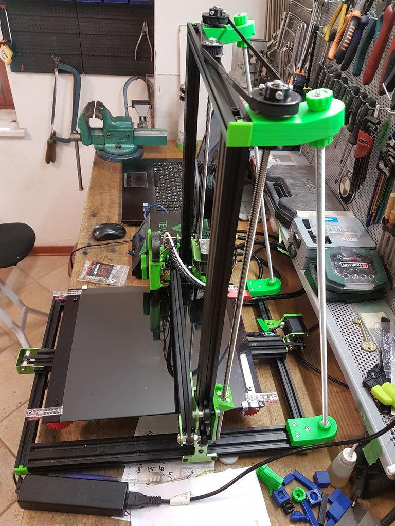 Tevo Tornado And Cr 10 Belt Driven Dual Z Mod With Braces By Peroe30 3d Printer Machine 3d Printer 3d Printing