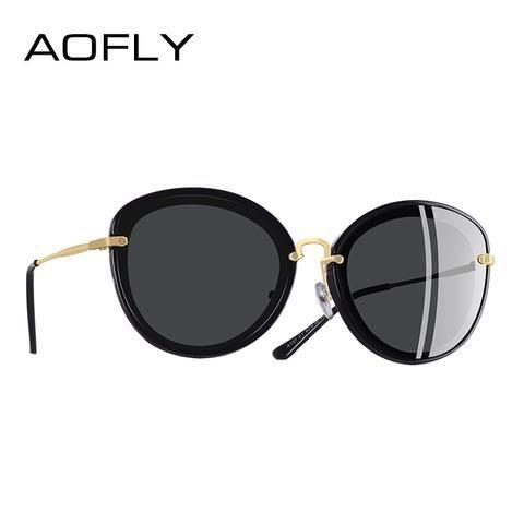 3229fbcc243 AOFLY BRAND DESIGN Fashion Ladies Cat Eye Sunglasses Metal Legs Polarized Sunglasses  Women Oculos Gafas A137