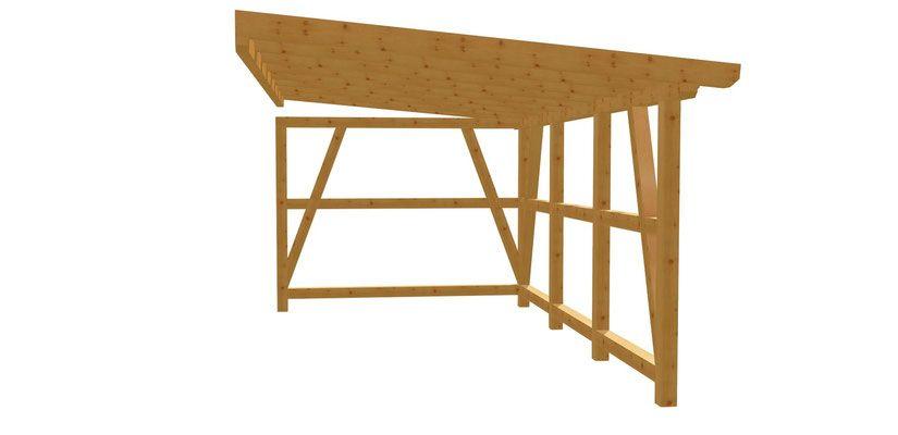 AnlehnCarport holzbauplan.de Carport holz, Holz