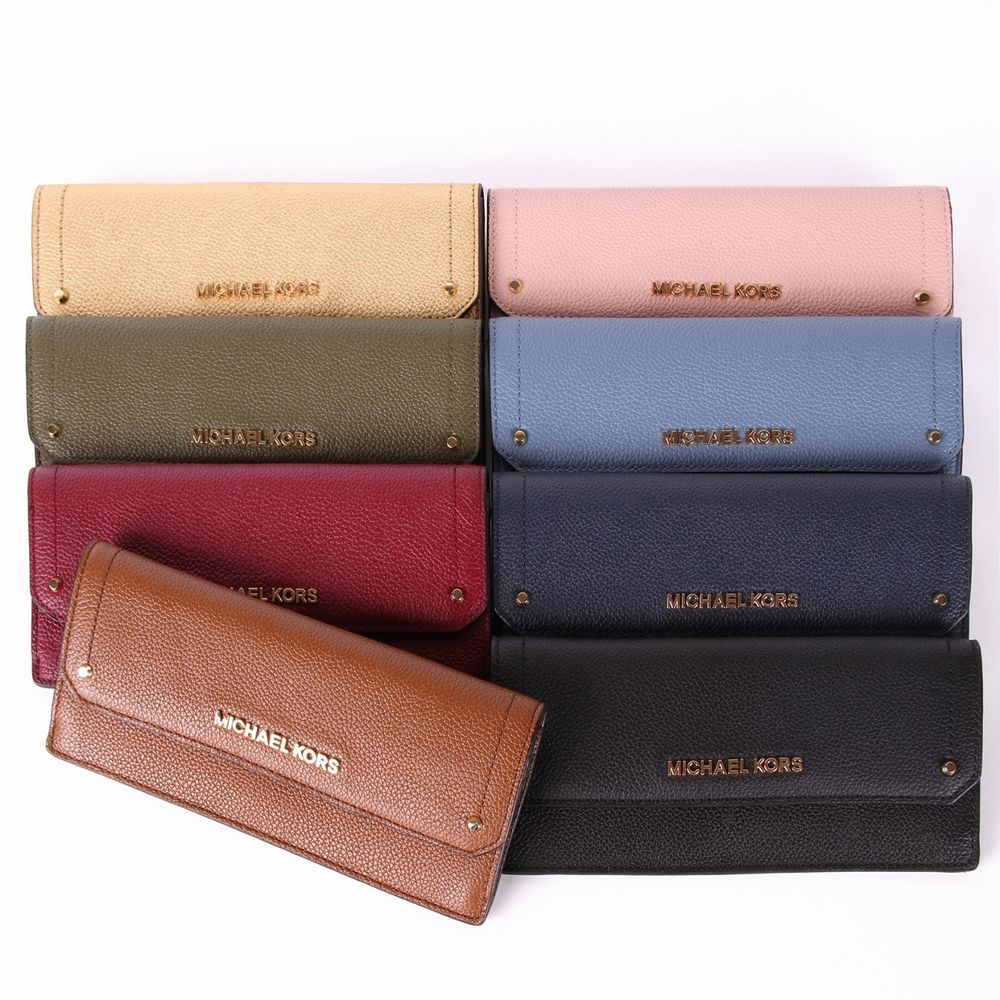 cdf795dfd15a NWT Michael Kors HAYES Flat Leather Wallet In Various Colors #MichaelKors  #Flatwallet