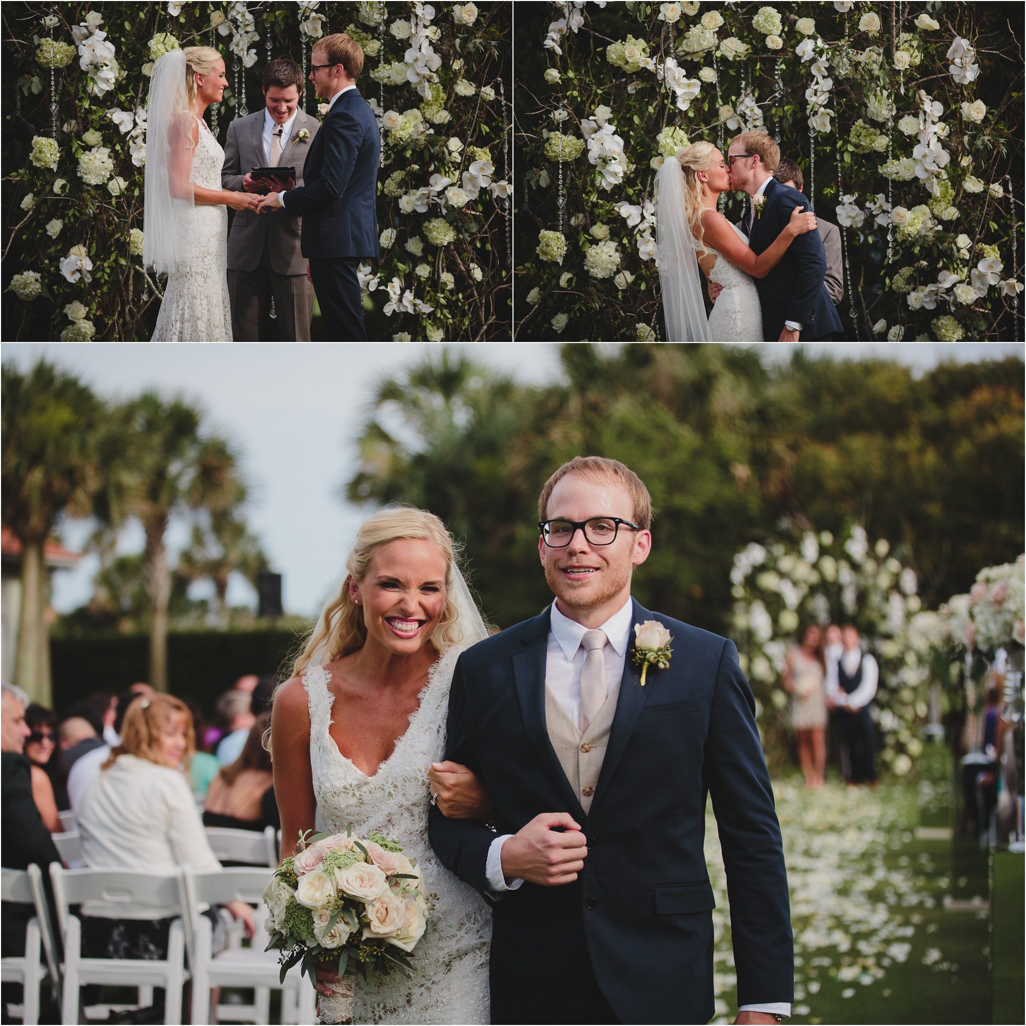 Blush And Champagne Brandi Dustin Flower Arch Gold Ponte Vedra Beach