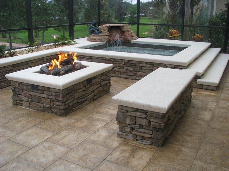 Pin By Elaine Tankersley On Fire Pits Rectangular Pit Backyard