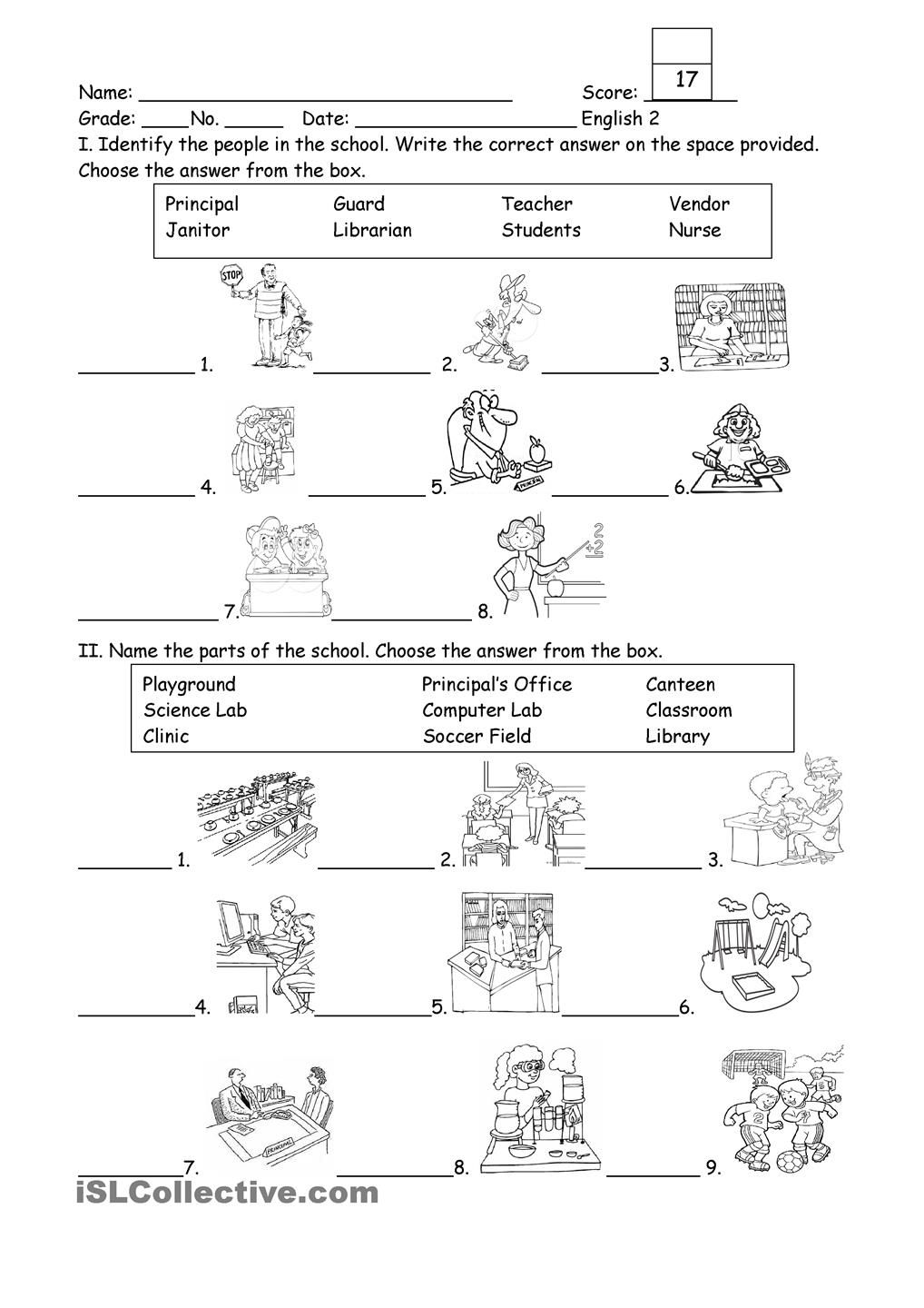 Pencil control worksheet for kids 187 tracing line worksheet for kids - People And Part Of The School The Schoolworksheetsstudent Centered Resourcesmenuwordsprintable