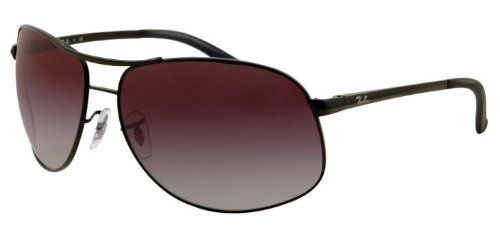 42709a981 Ray-Ban RB 3387 006/8G Matte Black / Gray Gradient Aviator Frame Size: 64mm  Small Ray-Ban. $99.95