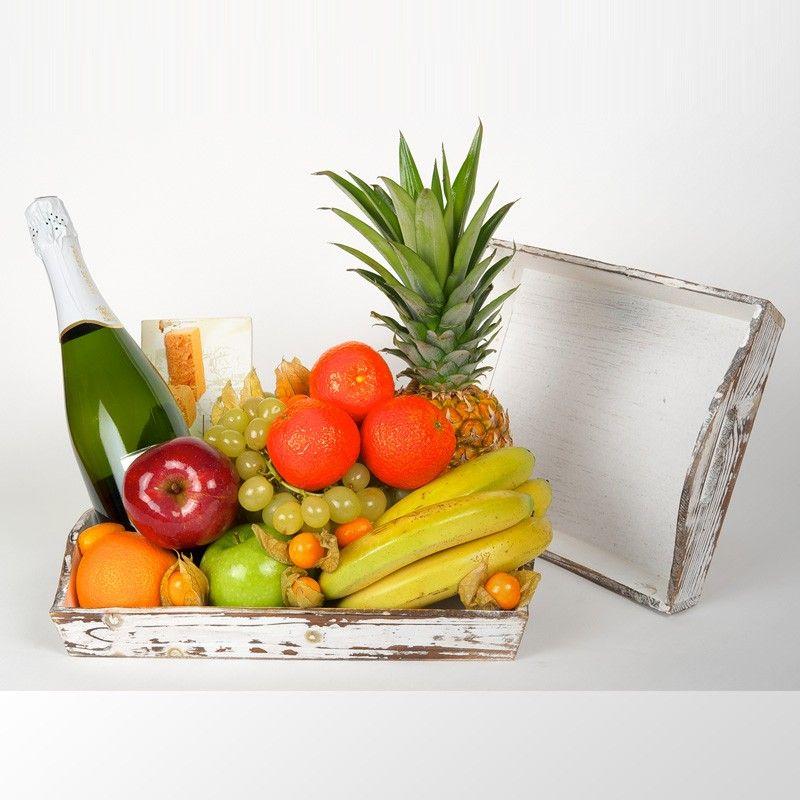 Cesta Blanca Navidad Fruta Frutas Recetas De Comida