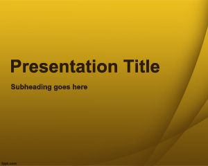 Free Yellow Quiz PowerPoint Template With Yellow Background And Effects