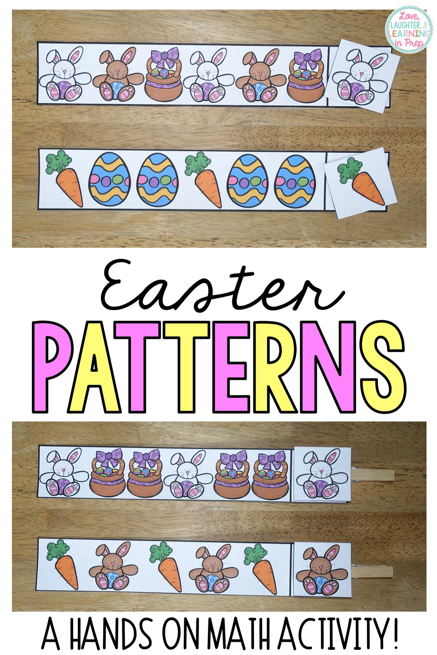 Easter Patterns Math Center Children Recognize The