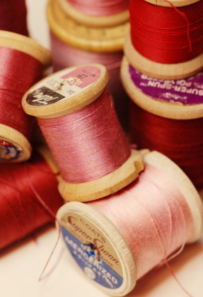Vintage Red and Pink Thread