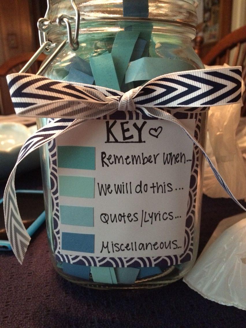 365 note jar craft ideas pinterest jar note and gift for Best friend anniversary gift ideas