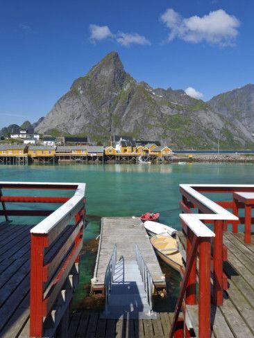 The Picturesque Fishing Village of Sakrisoy, Moskenesoy, Lofoten, Nordland, Norway