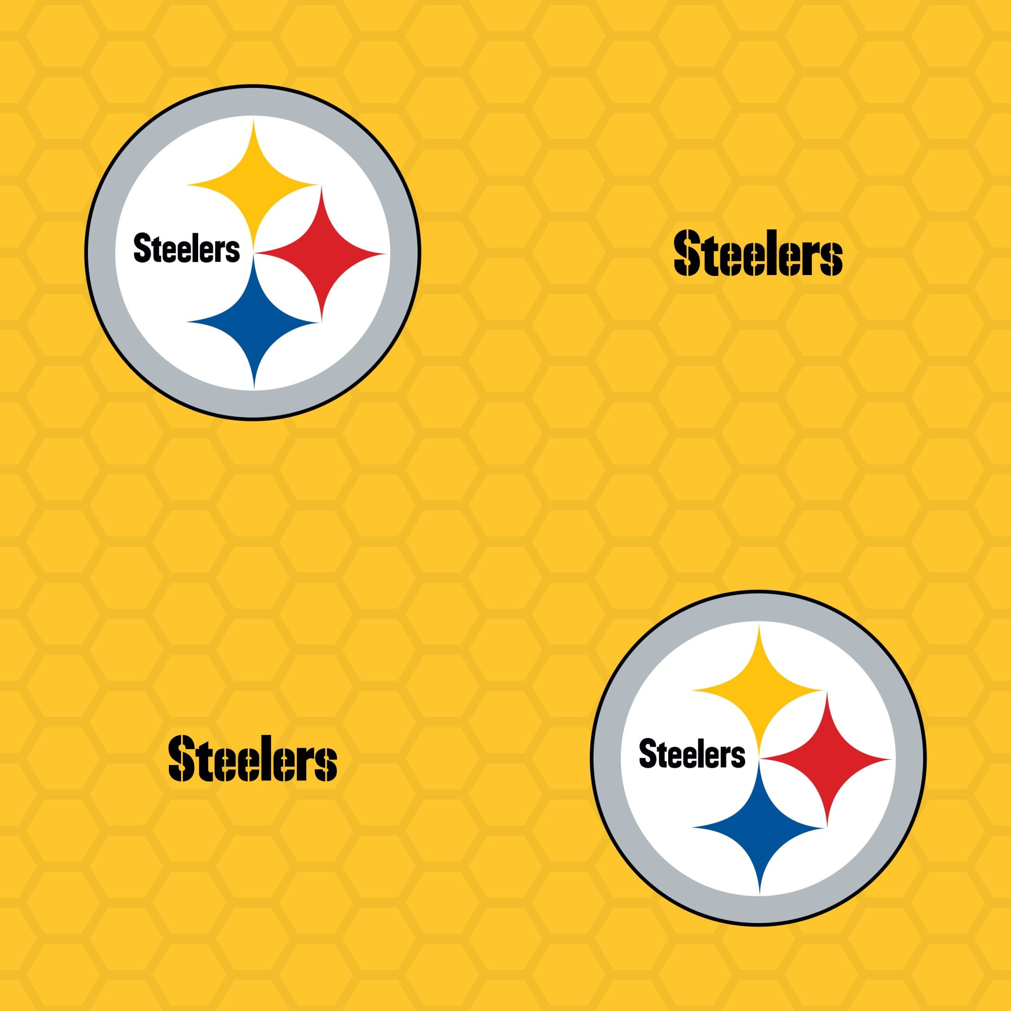 Pittsburgh Steelers Logo Pattern (Yellow) Officially
