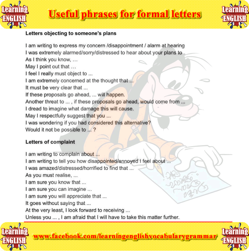 Useful phrases for formal letters learning english learning useful phrases for formal letters learning english spiritdancerdesigns Choice Image