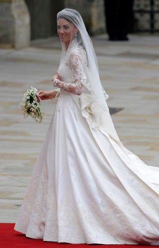 Kate Middleton Brautkleid Grace-Kelly-Style | Kate middleton, Grace ...