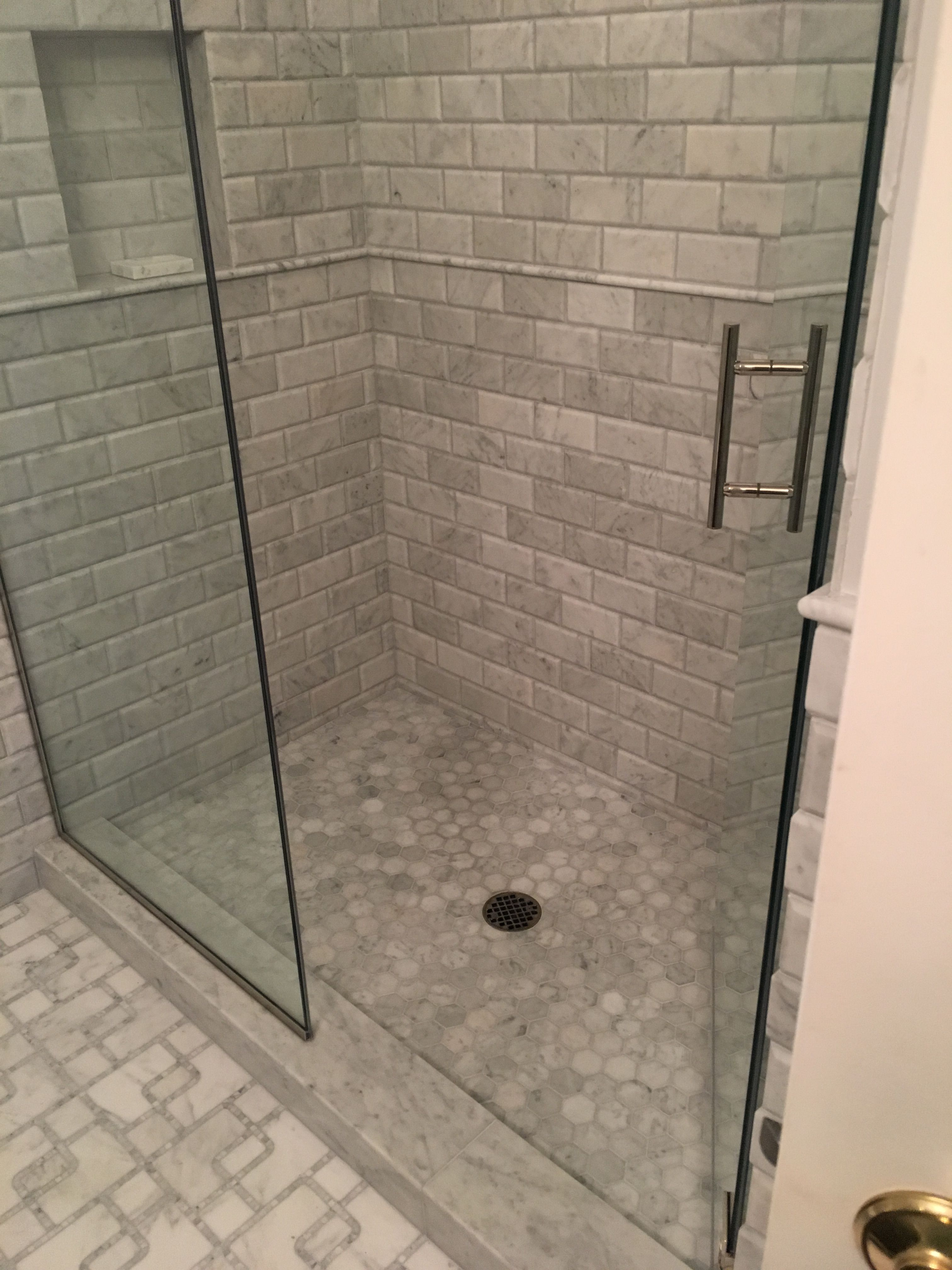 marble shower floor