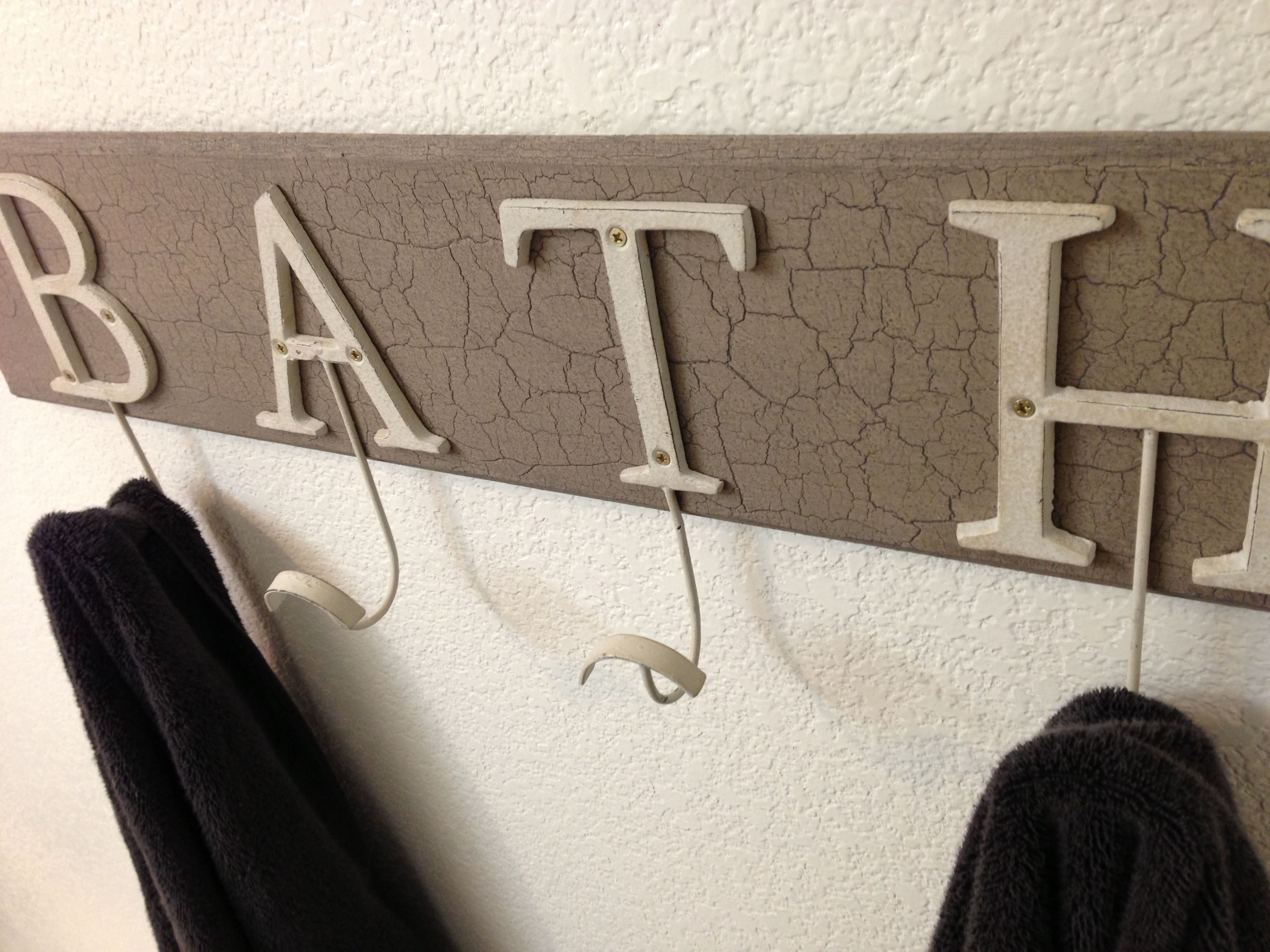 Towel Rack Created From Scrap Lumber With Marthas Crackle Paint