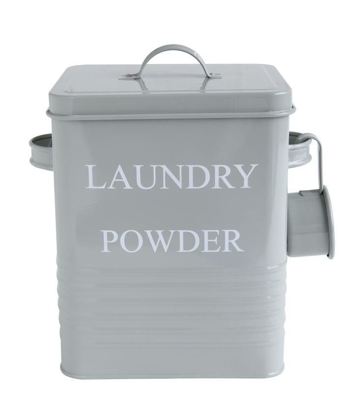 Laundry Powder Metal Container Grey