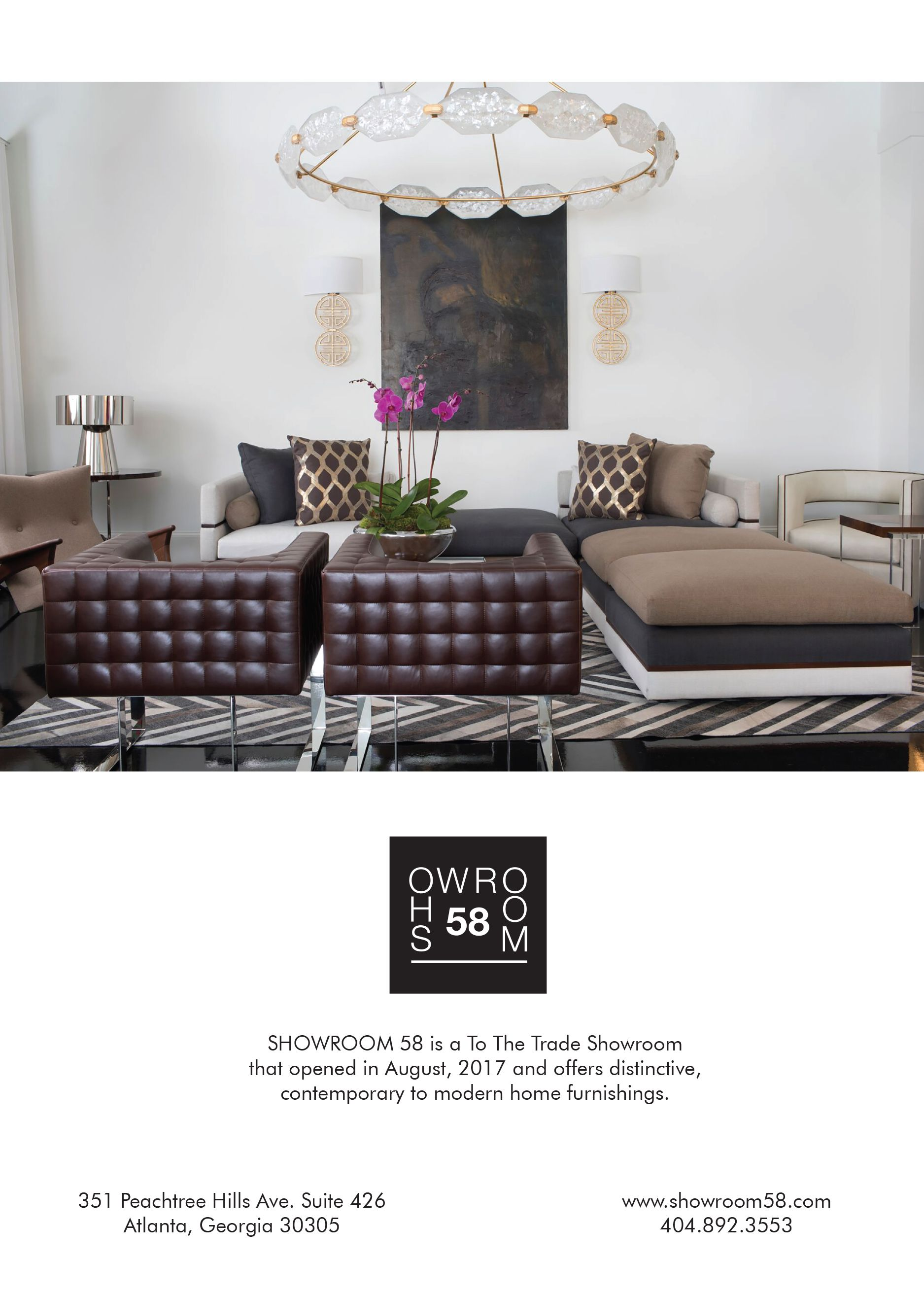 ad designed for showroom 58 a high end home furnishings showroom rh pinterest com