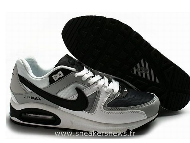 innovative design 5a0db 6fe4e Nike Air Max Command Homme Noir Gris Blanc Chaussures Nike Air Max Command  Pas Cher