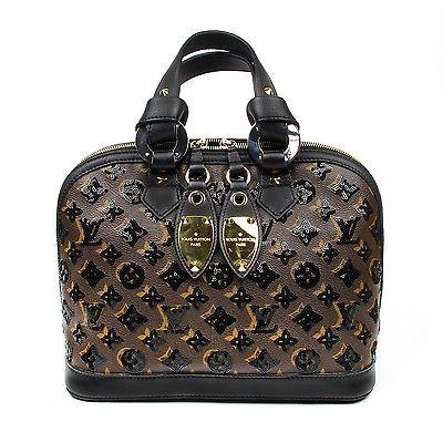 bf72829caa09 Louis Vuitton Sequin Eclipse Alma Monogram Black Leather Bag Handbag ...
