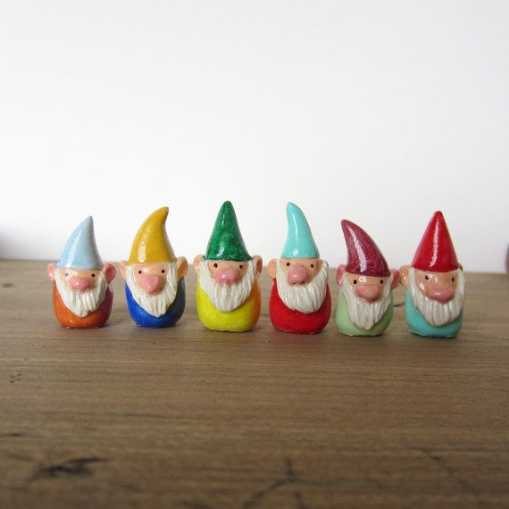Captivating RESERVED For Mia 3 Tiny Custom Gnome Figurines By HandyMaiden