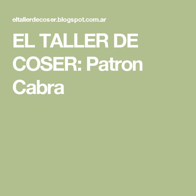 Hermosa Patrón De Costura De Cabra Cresta - Ideas de Patrones de ...