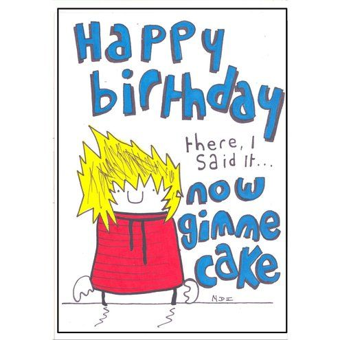 funny happy birthday card printable bear funny birthday card by chuckleberrys - Funny Birthday Cards For Kids