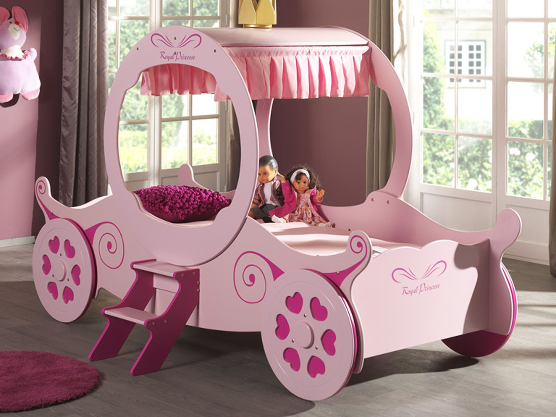 lit carrosse cendrillon meuble et d co enfant. Black Bedroom Furniture Sets. Home Design Ideas