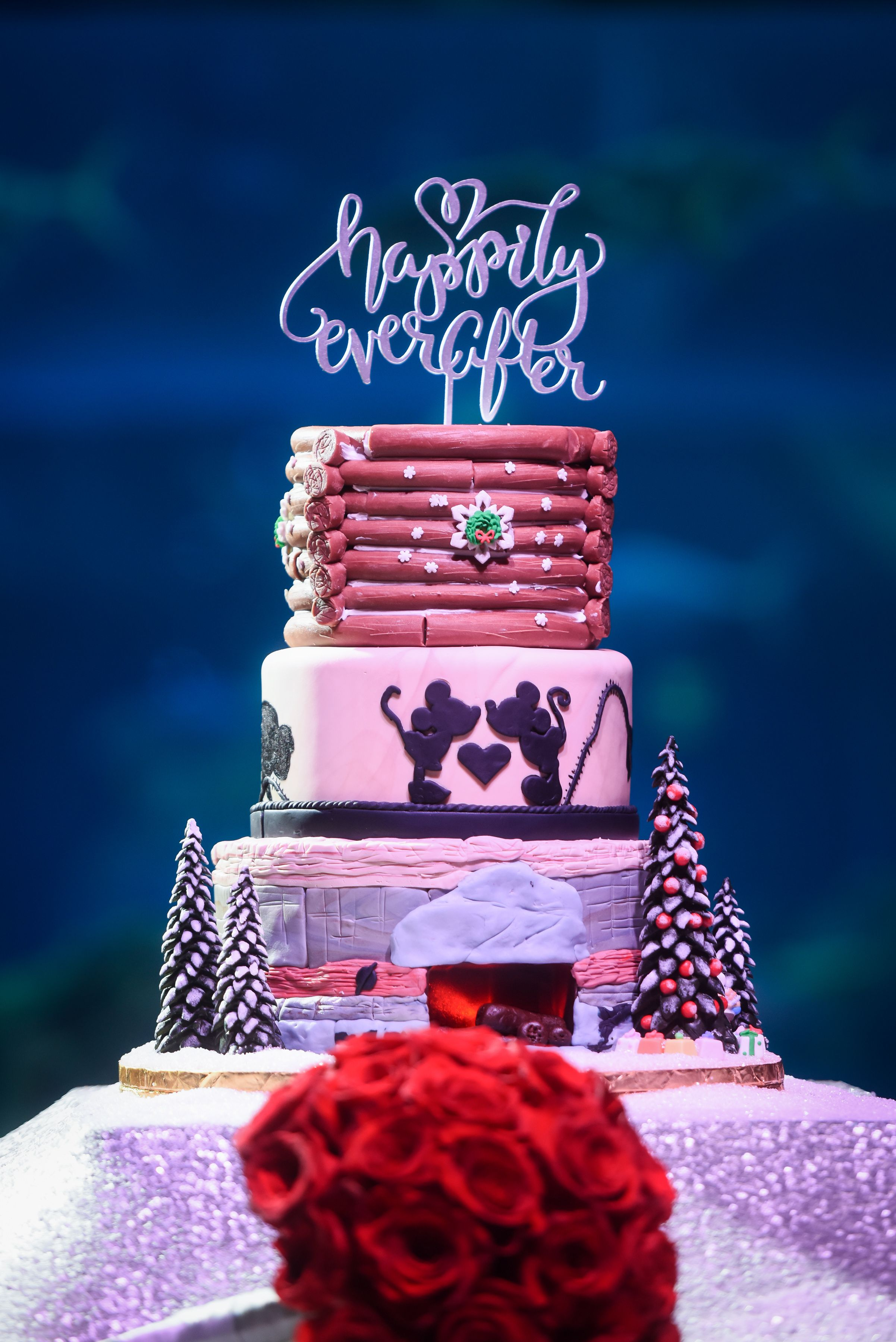 shabby chic bridal shower cakes%0A A Christmas wedding cake inspired by Disney u    s Wilderness Lodge