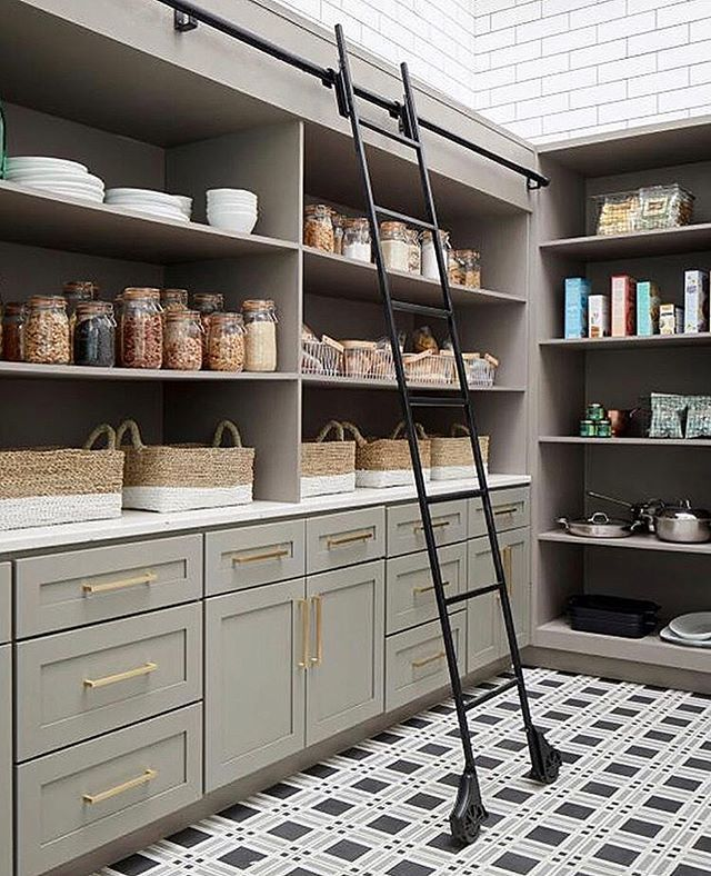 fabulous shelf on bathroom counter | Fabulous floor in pantry | Kitchens in 2019 | Pantry room ...