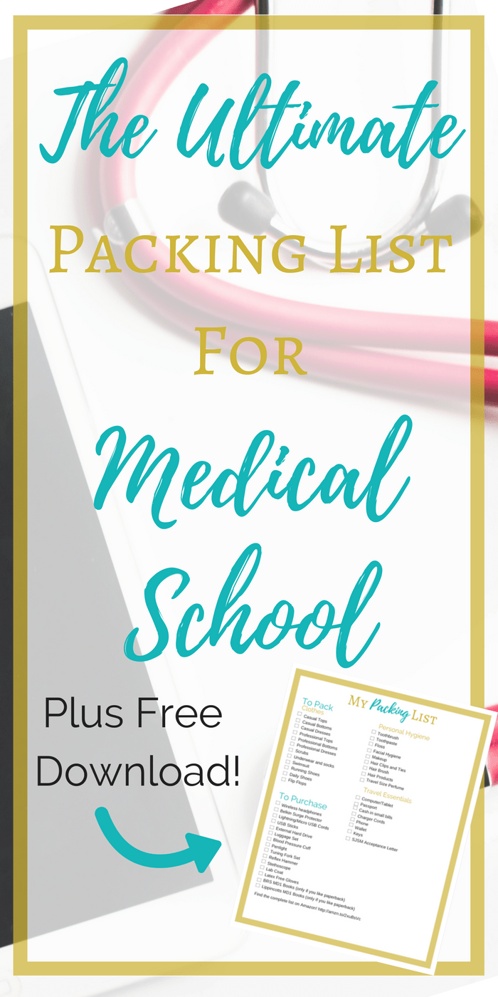 The Ultimate Packing List for Medical School | Being