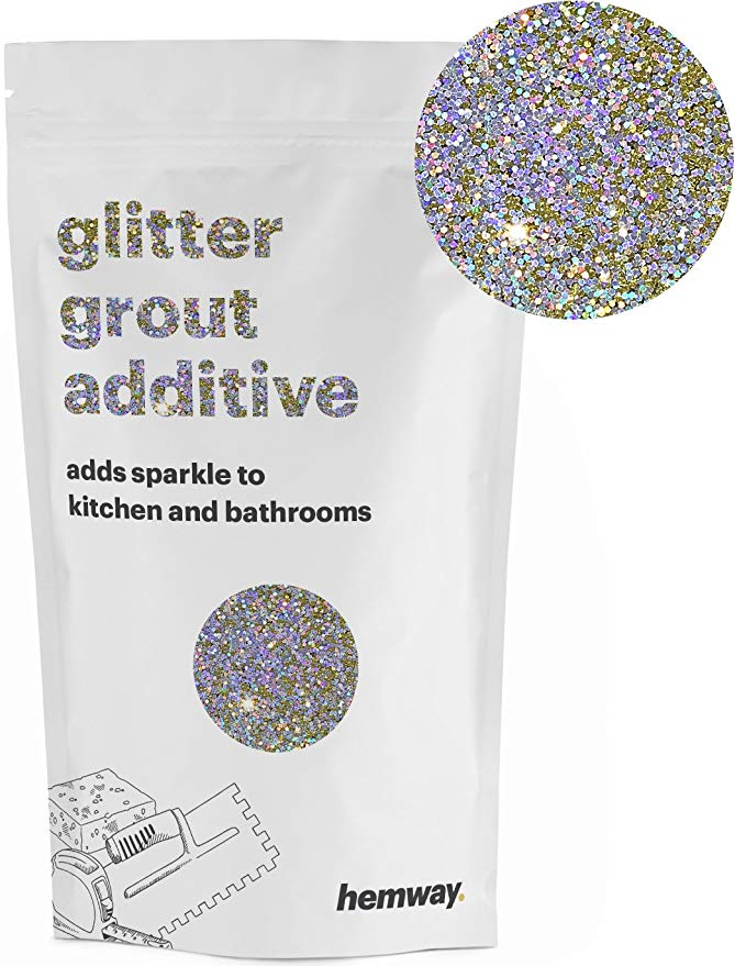 Hemway (Purple) Glitter Grout Tile Additive 100g for Tiles Bathroom Wet Room Kitchen   Easy to use - Add/Mix with Epoxy Resin or Cement Based Grout   Temperature Resistant - - Amazon.com #glittergrout Hemway (Purple) Glitter Grout Tile Additive 100g for Tiles Bathroom Wet Room Kitchen   Easy to use - Add/Mix with Epoxy Resin or Cement Based Grout   Temperature Resistant - - Amazon.com #glittergrout