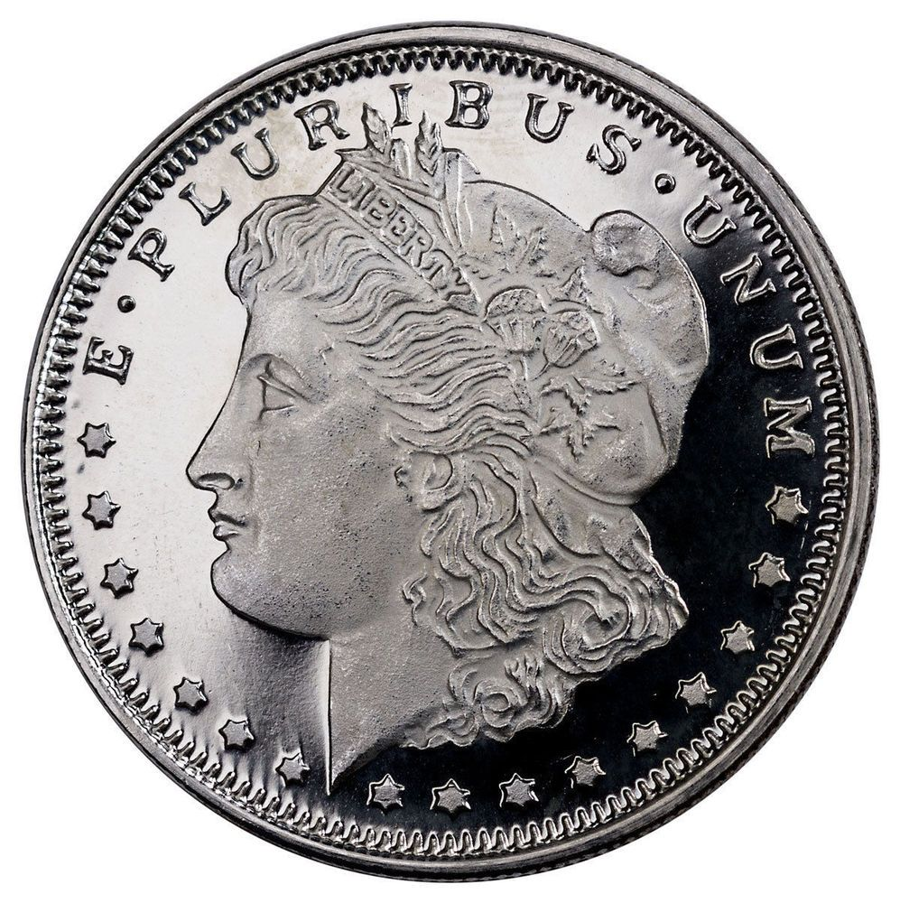 Morgan Dollar Design 1 2 Oz 999 Fine Solid Silver Round 2018 New Morgan Silver Dollar Coins For Sale Silver Rounds