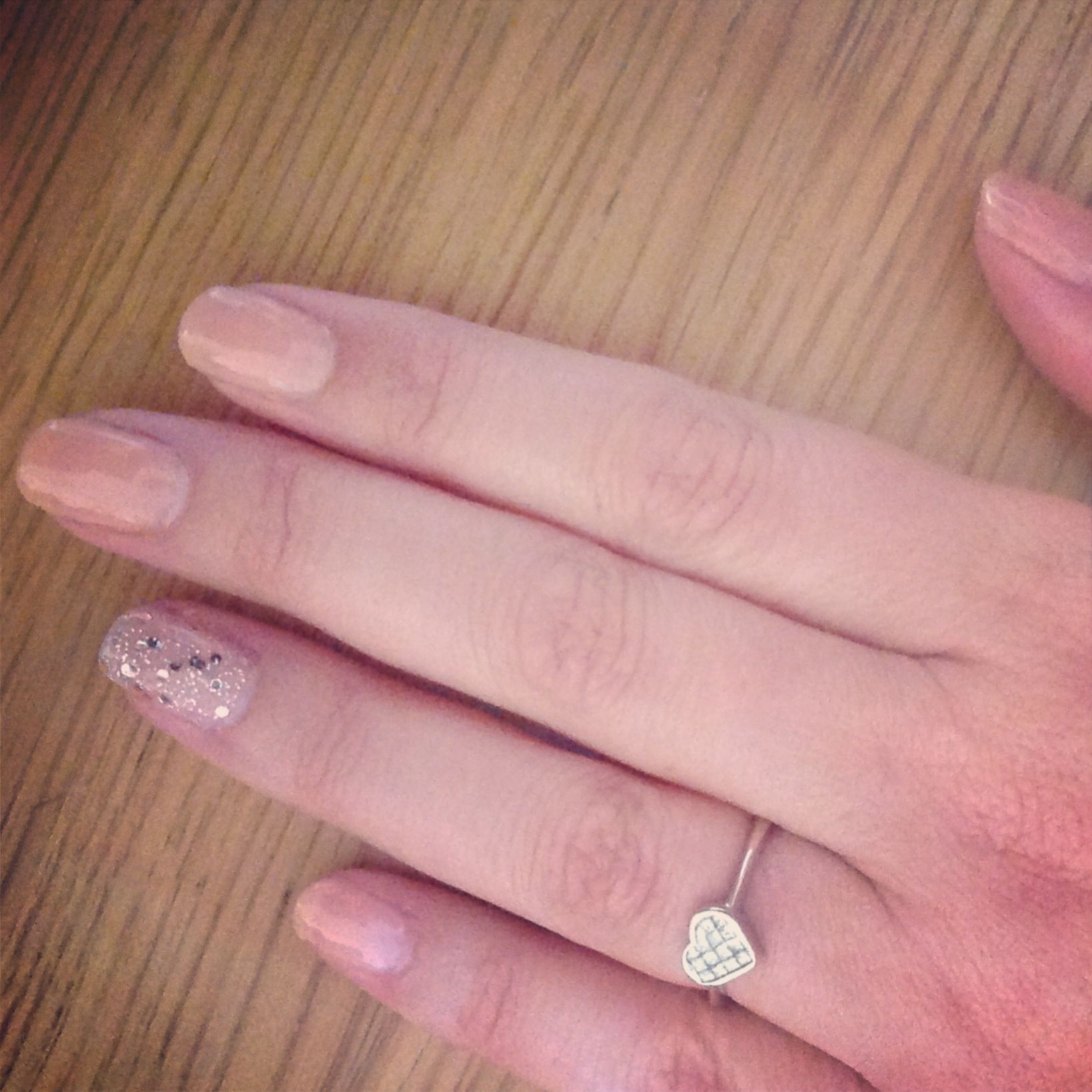 Shellac Nude Knickers with sparkle nail